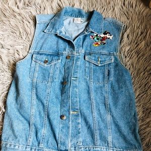 Mickey Mouse denim vest